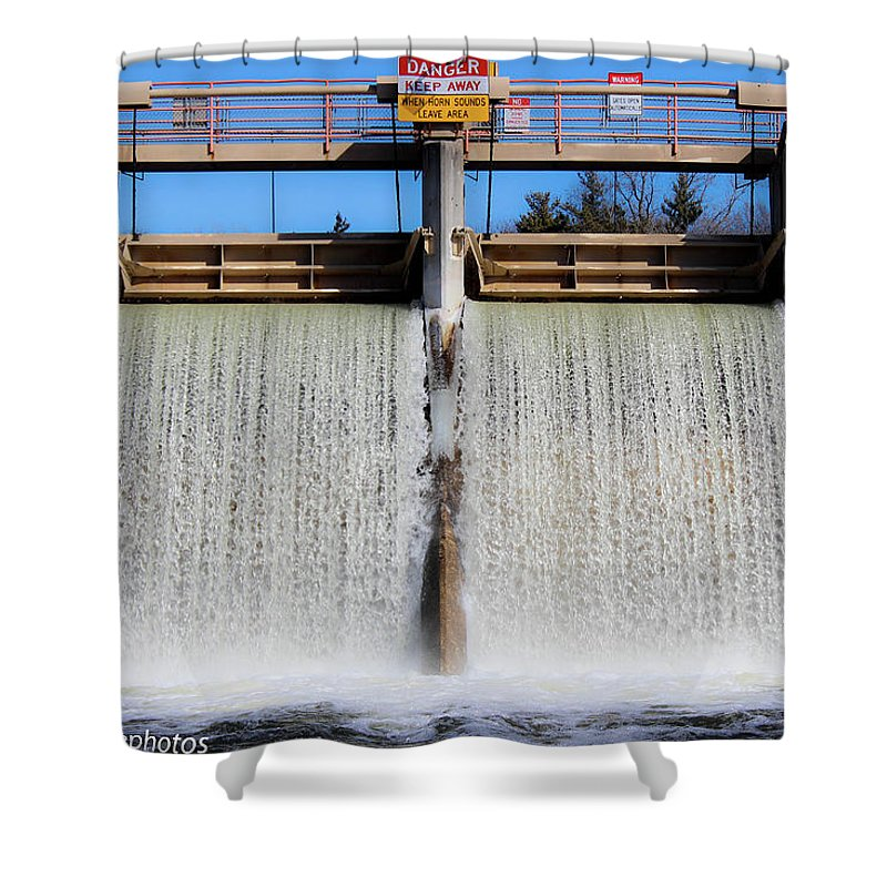 Rcnaturephotos Shower Curtain featuring the photograph Full Force by Rachel Cohen