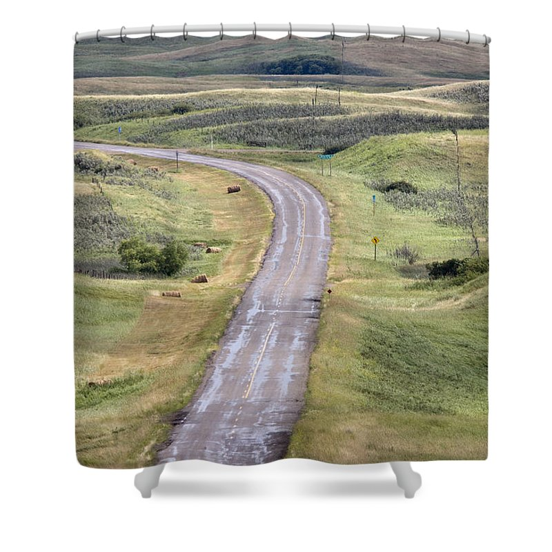 Old Shower Curtain featuring the photograph Ghost Town Galilee Saskatchewan by Mark Duffy