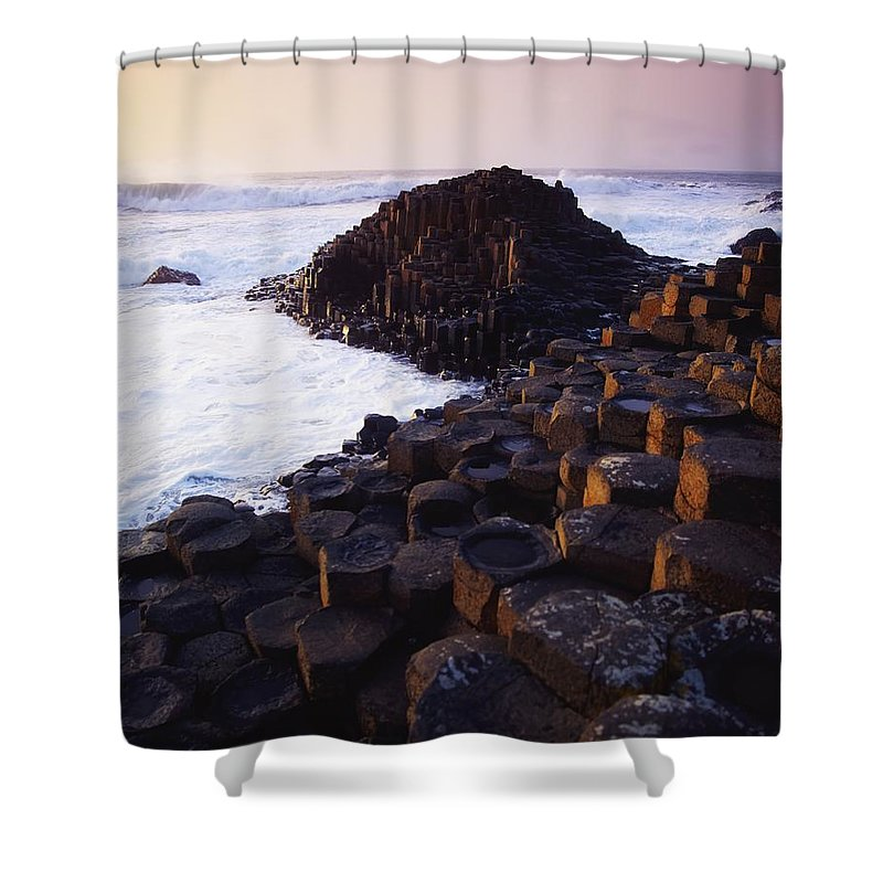 Beauty In Nature Shower Curtain featuring the photograph Giants Causeway, Co Antrim, Ireland by The Irish Image Collection