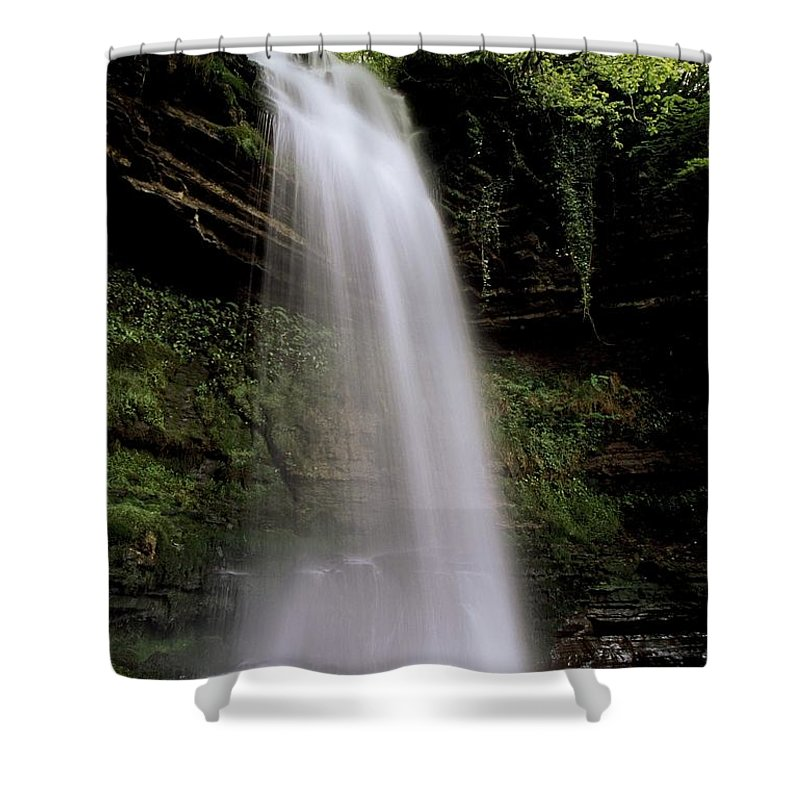 County Leitrim Shower Curtain featuring the photograph Glencar Waterfall, County Leitrim by Richard Cummins