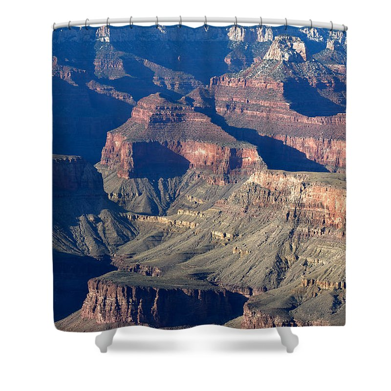Grand Canyon Shower Curtain featuring the photograph Grand Canyon Shadows by Julie Niemela
