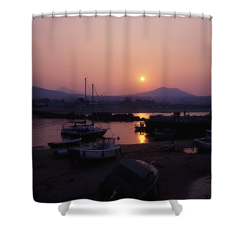 Background People Shower Curtain featuring the photograph Greystones, Co Wicklow, Ireland by The Irish Image Collection