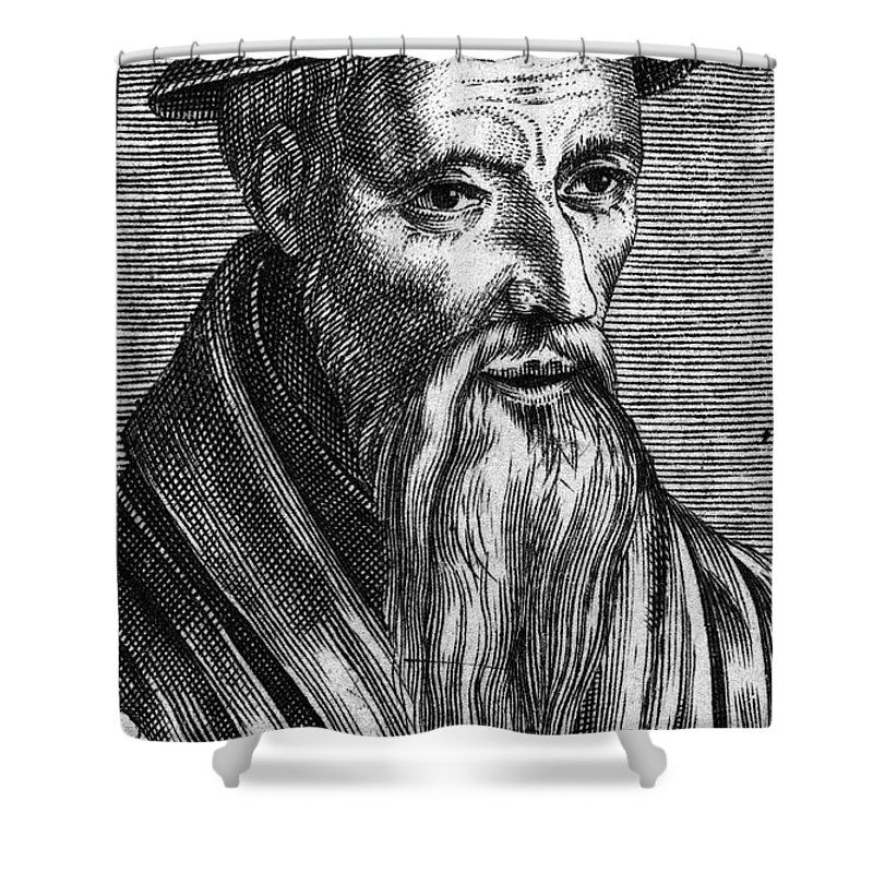 16th Century Shower Curtain featuring the photograph Guillaume Farel (1489-1565) by Granger