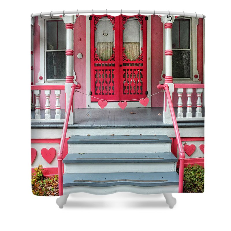 Hearts Shower Curtain featuring the photograph Have A Heart by Dave Mills