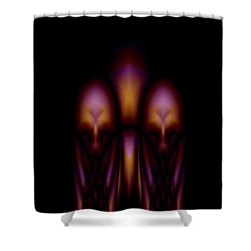 Hibernation Shower Curtain featuring the painting Hibernation by Christopher Gaston