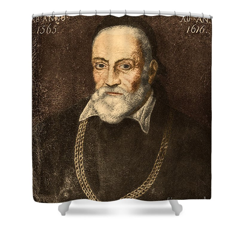 Science Shower Curtain featuring the photograph Hieronymus Fabricius, Italian Anatomist by Science Source
