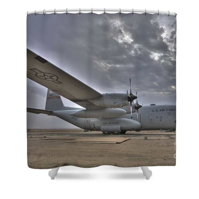 Air Force Shower Curtain featuring the photograph High Dynamic Range Image Of A U.s. Air by Terry Moore