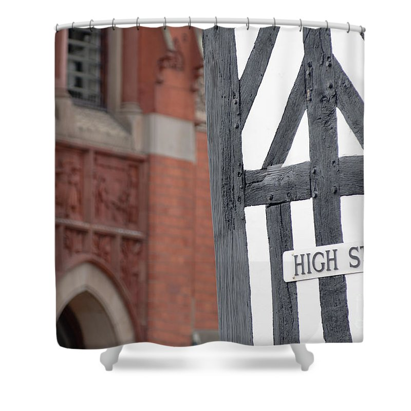 British Shower Curtain featuring the photograph High Street by Andrew Michael