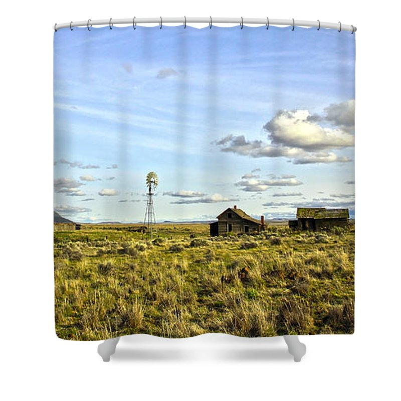 Windmill Shower Curtain featuring the photograph Home On The Range by Steve McKinzie