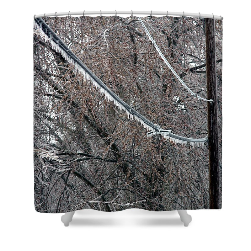 Ice Storm Shower Curtain featuring the photograph Ice Storm by Ted Kinsman