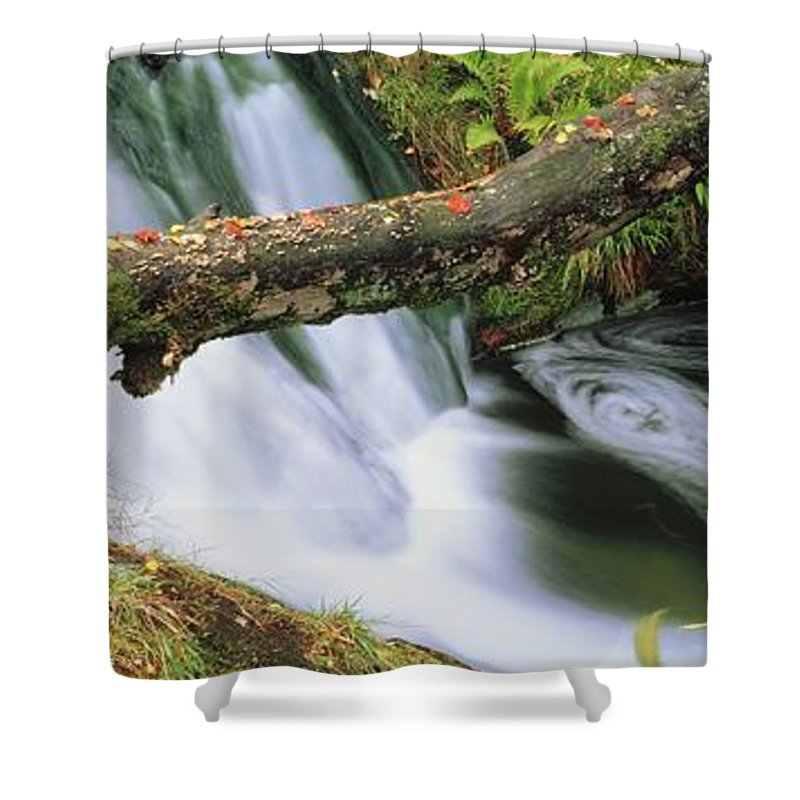 Color Image Shower Curtain featuring the photograph Ireland Waterfall by The Irish Image Collection