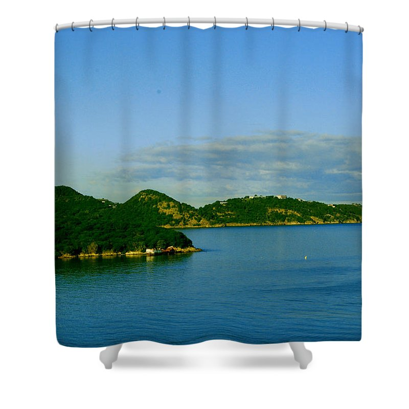 Caribbean Island Shower Curtain featuring the photograph Island Paradise by Gary Wonning