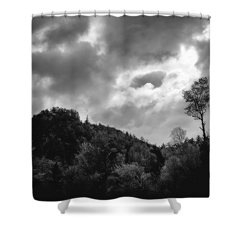 Clouds Shower Curtain featuring the photograph Just Before The Rain by Guy Whiteley