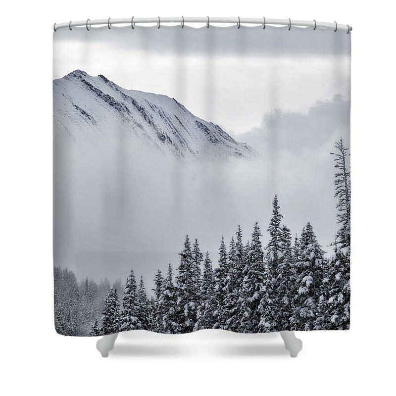 Light Shower Curtain featuring the photograph Kananaskis Country In Winter, Peter by Darwin Wiggett
