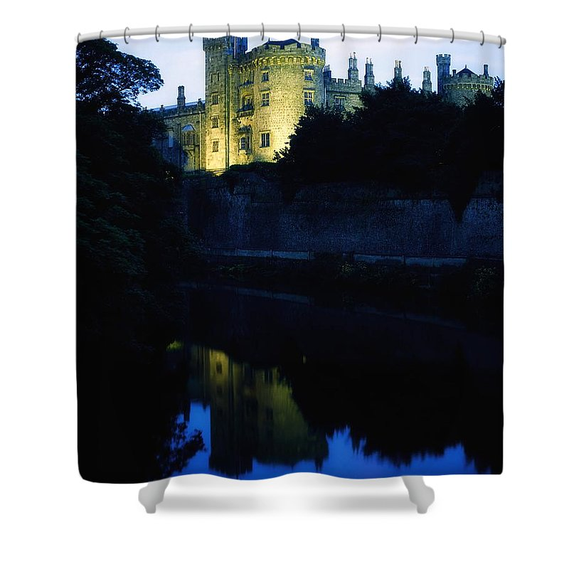 Architecture Shower Curtain featuring the photograph Kilkenny Castle, Co Kilkenny, Ireland by The Irish Image Collection