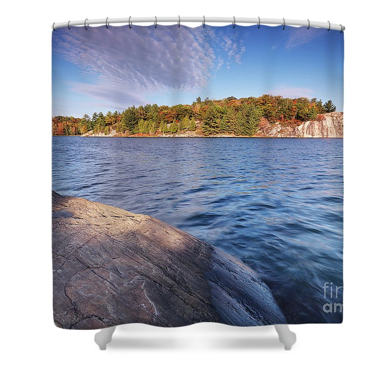 Lake Shower Curtain featuring the photograph Killarney Provincial Park In Fall by Oleksiy Maksymenko