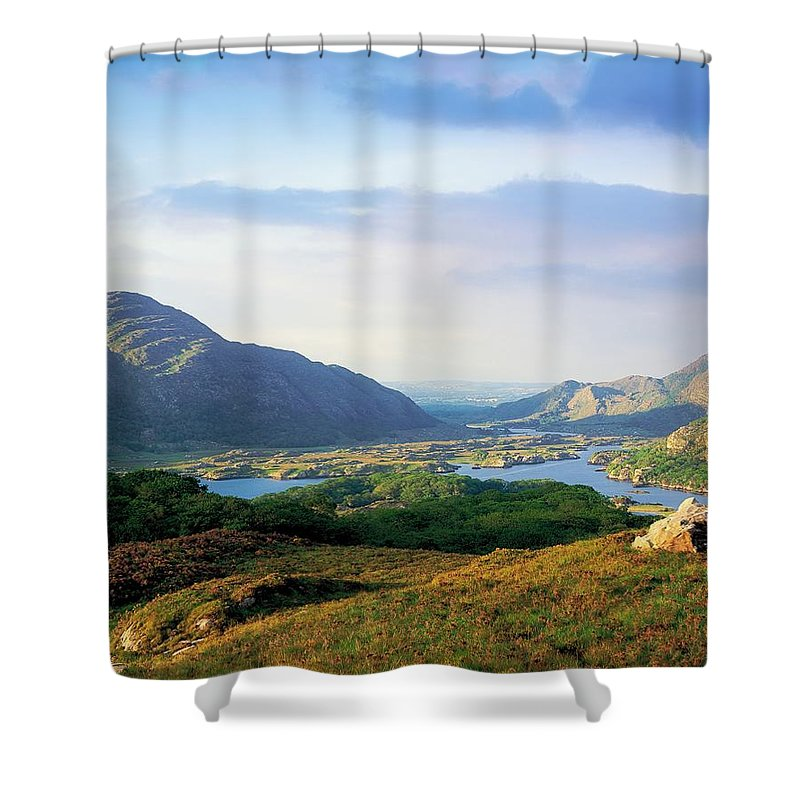 Beauty In Nature Shower Curtain featuring the photograph Ladies View, Killarney, Co Kerry by The Irish Image Collection