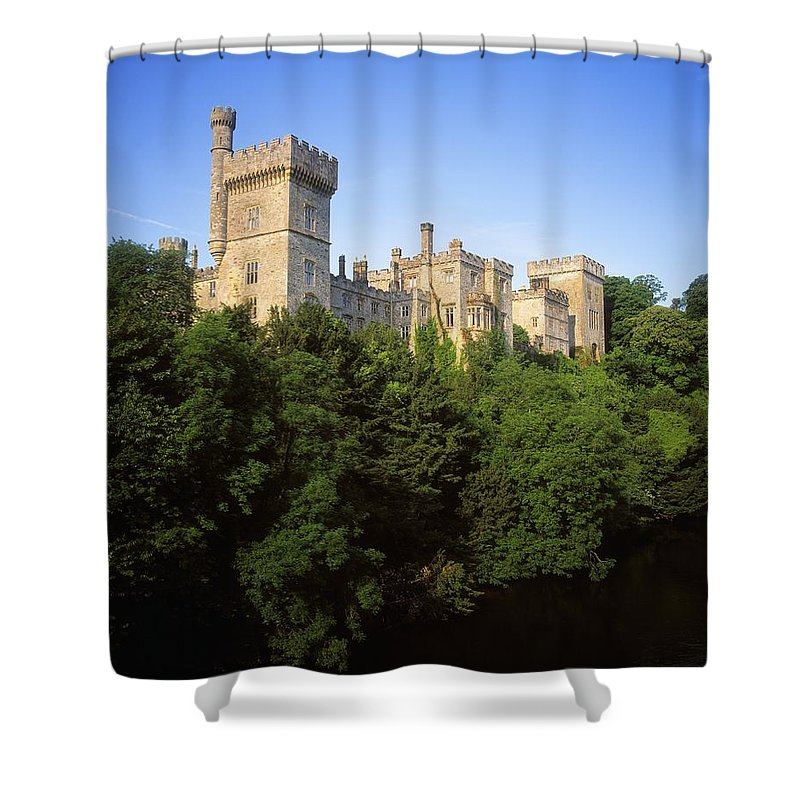Archaeology Shower Curtain featuring the photograph Lismore Castle, Co Waterford, Ireland by The Irish Image Collection