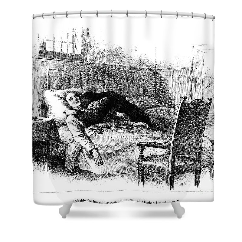 1884 Shower Curtain featuring the photograph Longfellow: Evangeline by Granger