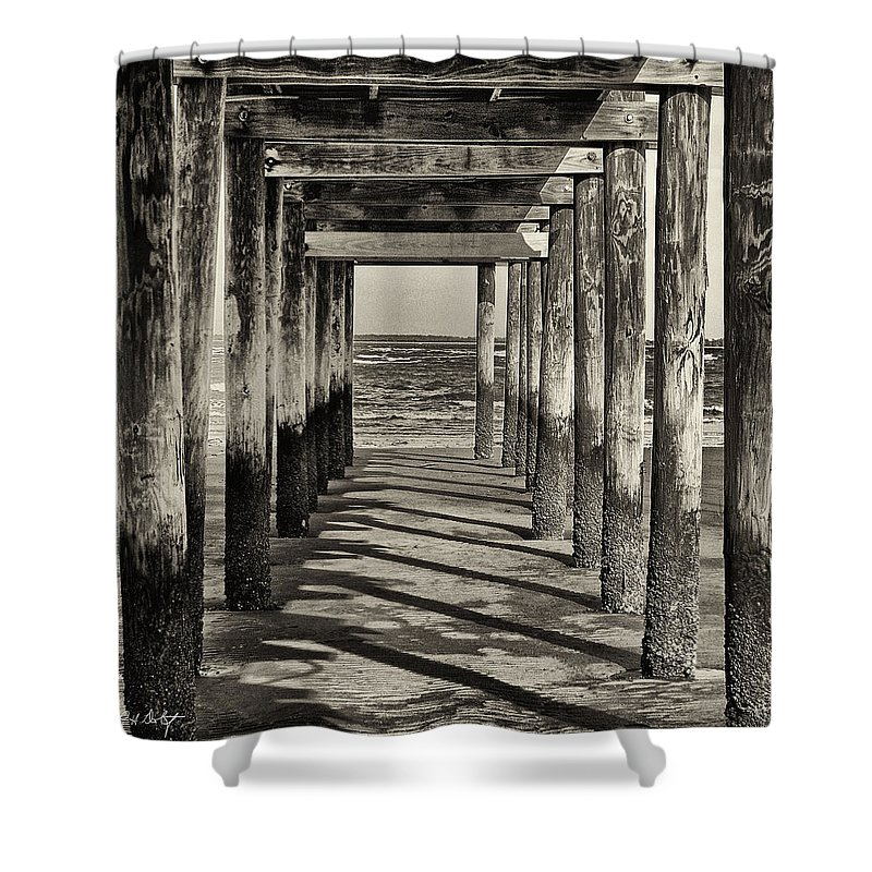 Beach Shower Curtain featuring the photograph Low Tide by Phill Doherty