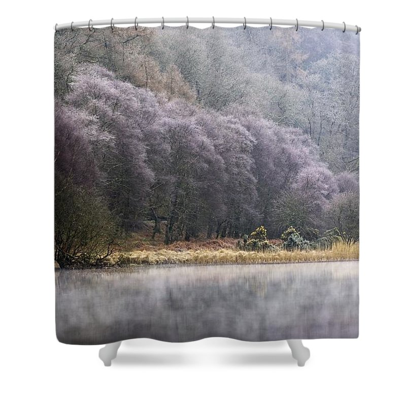 Cold Shower Curtain featuring the photograph Lower Lake, Glendalough, County by Peter McCabe