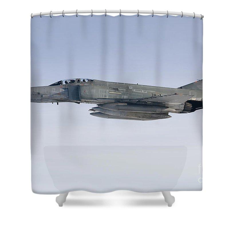 F-4 Phantom Shower Curtain featuring the photograph Luftwaffe F-4f Phantom II by Gert Kromhout