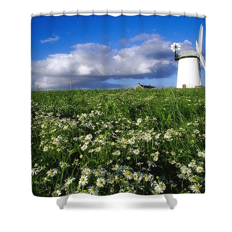 Architecture Shower Curtain featuring the photograph Millisle, County Down, Ireland by Richard Cummins