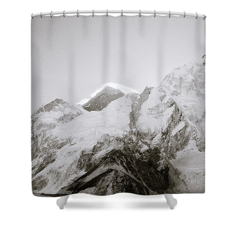 Mount Everest Shower Curtain featuring the photograph Mount Everest by Shaun Higson