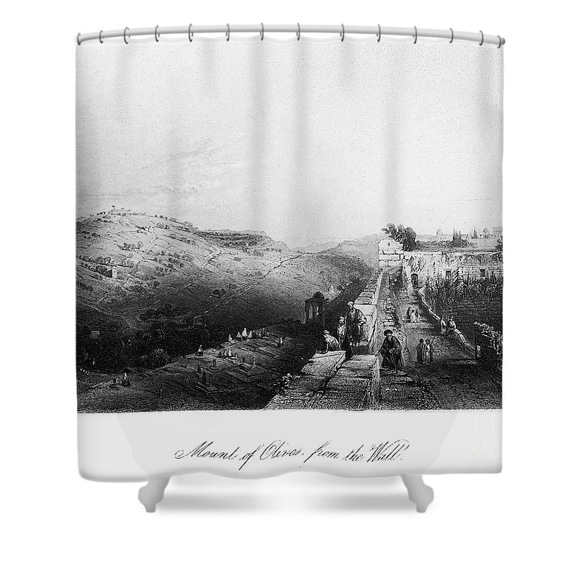 1843 Shower Curtain featuring the photograph Mount Of Olives by Granger