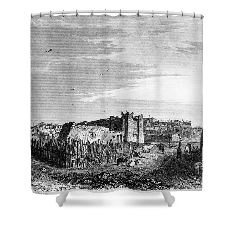 1854 Shower Curtain featuring the photograph New Mexico: Zuni Pueblo by Granger