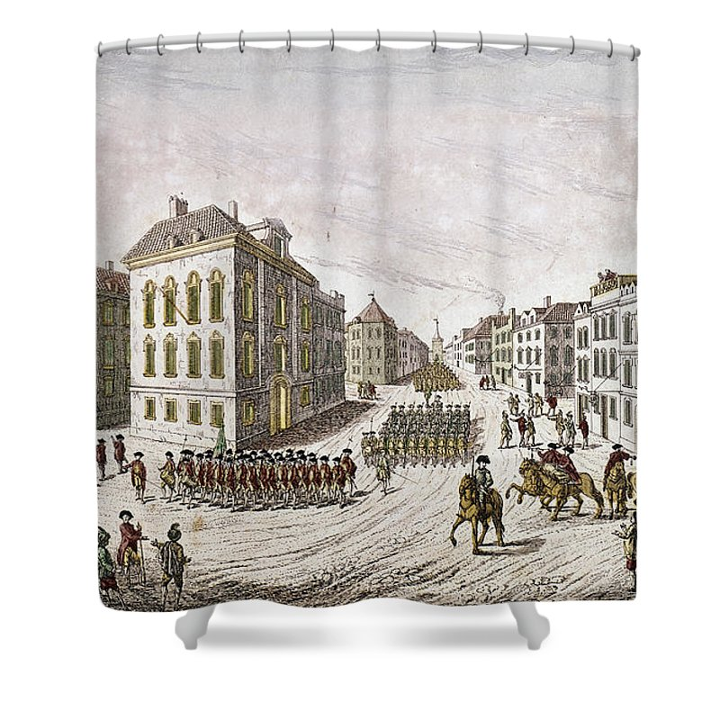 1776 Shower Curtain featuring the photograph Occupied New York, 1776 by Granger