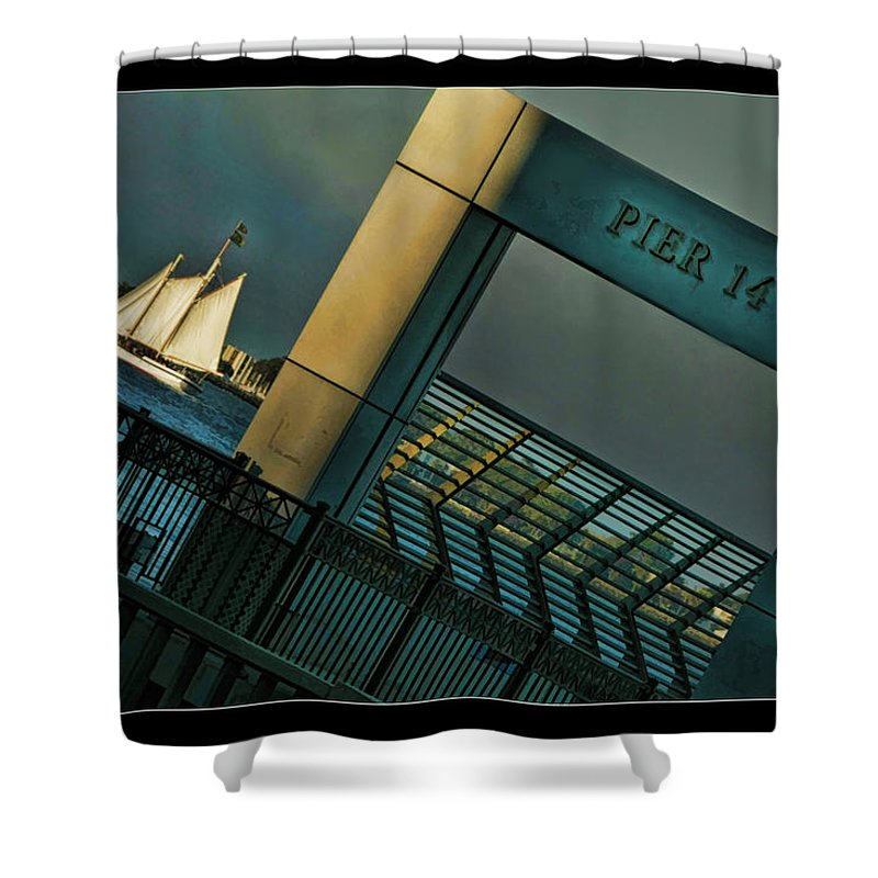 Pier 14 Shower Curtain featuring the photograph Pier 14 by Blake Richards