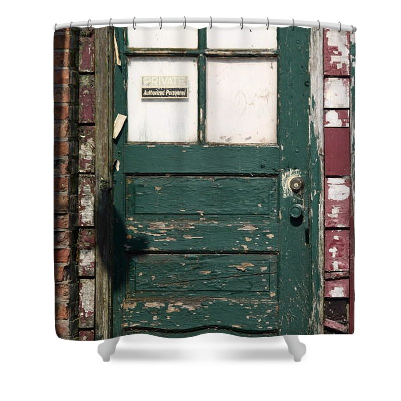 Door Shower Curtain featuring the photograph Private by Lauri Novak