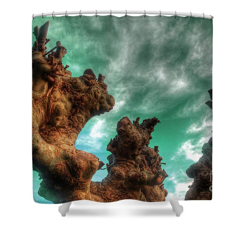 Abstract Shower Curtain featuring the photograph Pruned by Rob Hawkins