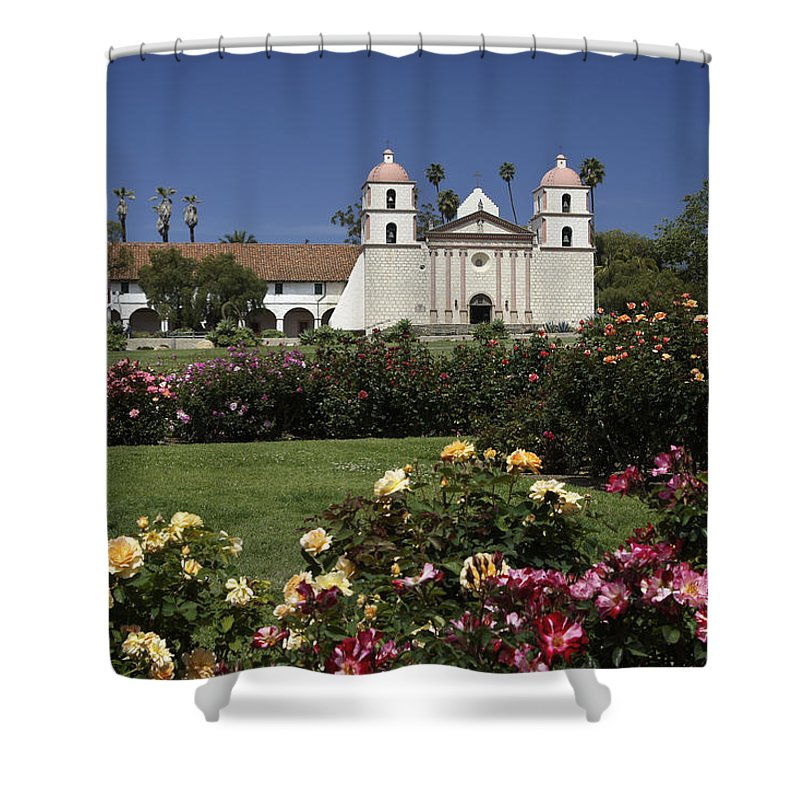 California Shower Curtain featuring the photograph Queen Of The Spanish Missions by Michele Burgess
