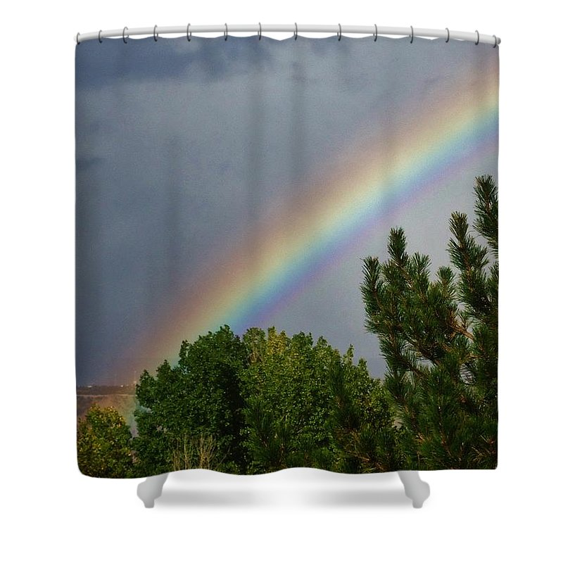Rainbows Shower Curtain featuring the photograph Rainbow's End by Lois  Rivera