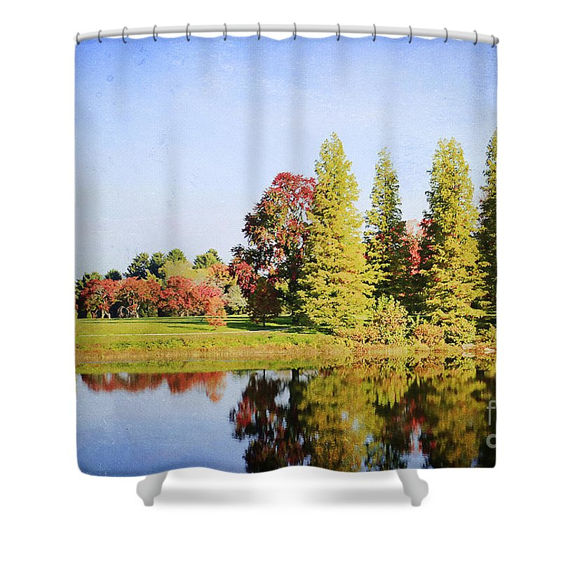 Autumn Shower Curtain featuring the photograph Reflections by Darren Fisher