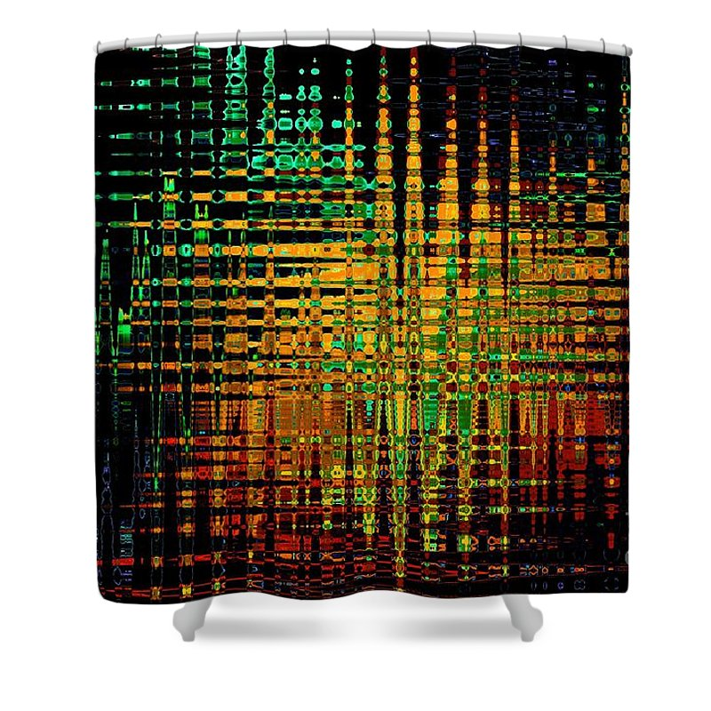 Reflection Shower Curtain featuring the digital art Reflections by Klara Acel