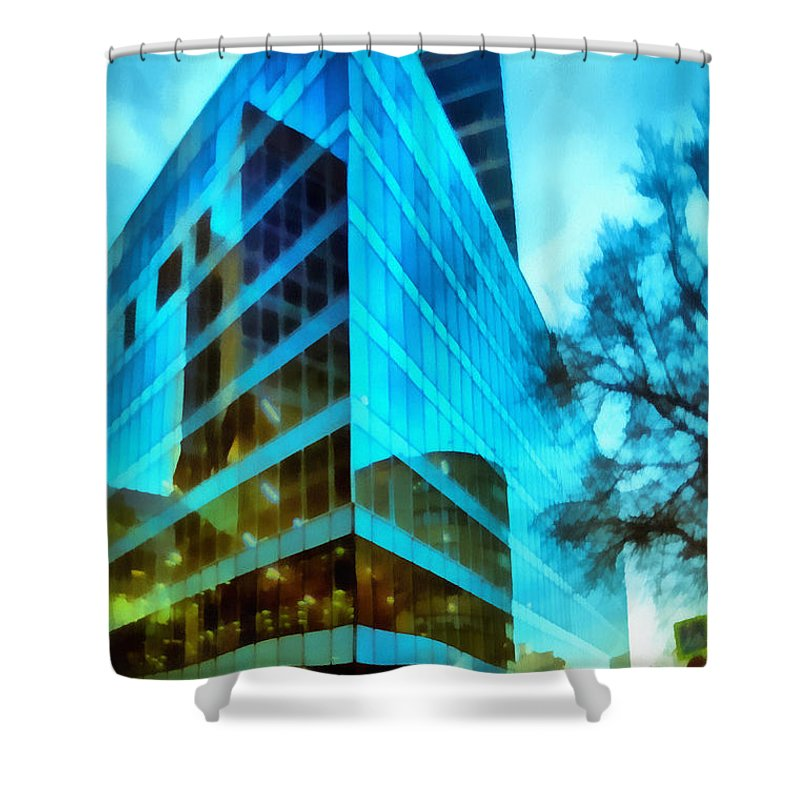 Art Shower Curtain featuring the photograph Reflections by Michael Goyberg