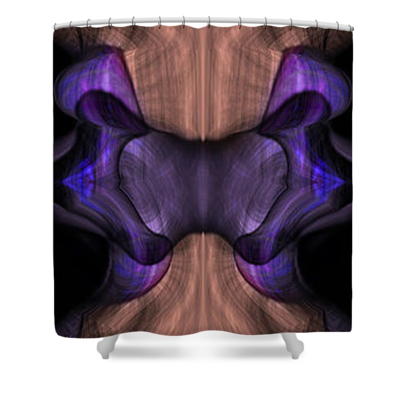 Reptile Shower Curtain featuring the painting Reptilian Trio by Christopher Gaston