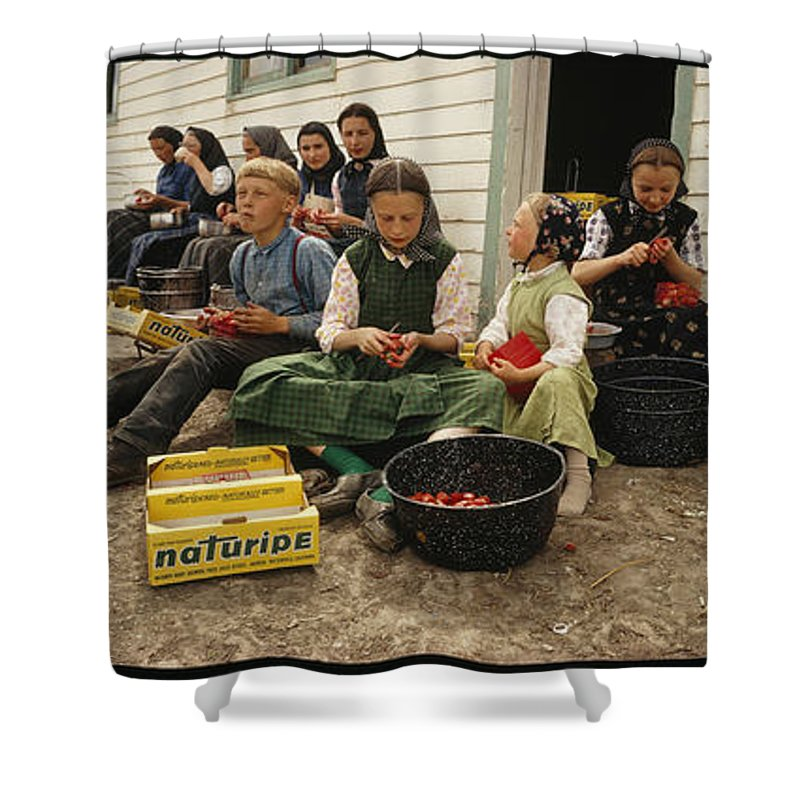 Shower Curtain featuring the photograph retouched/Q.C by National Geographic