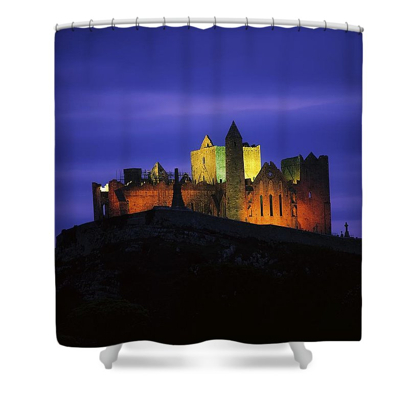 Ancient Civilization Shower Curtain featuring the photograph Rock Of Cashel, Co Tipperary, Ireland by The Irish Image Collection
