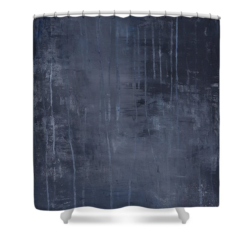 Rain Shower Curtain featuring the painting Romance by Amani Hanson