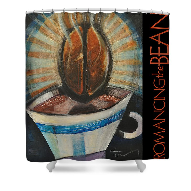 Beverage Shower Curtain featuring the painting Romancing The Bean Poster by Tim Nyberg