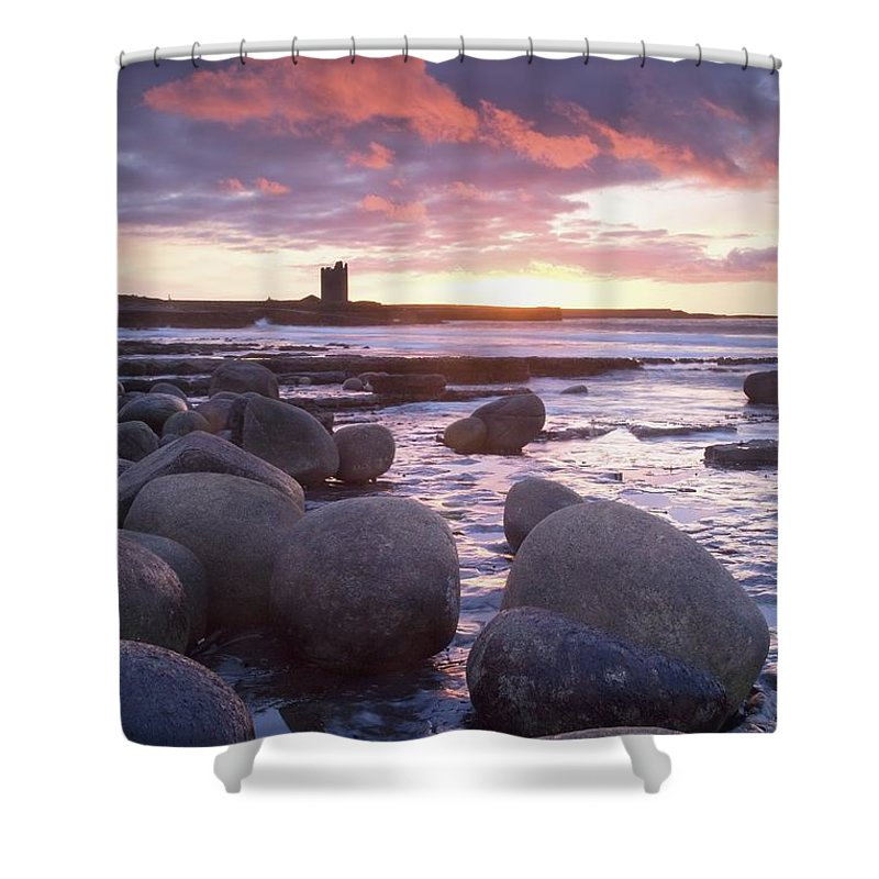 Roslee Castle Shower Curtain featuring the photograph Roslee Castle, Easky, County Sligo by Gareth McCormack