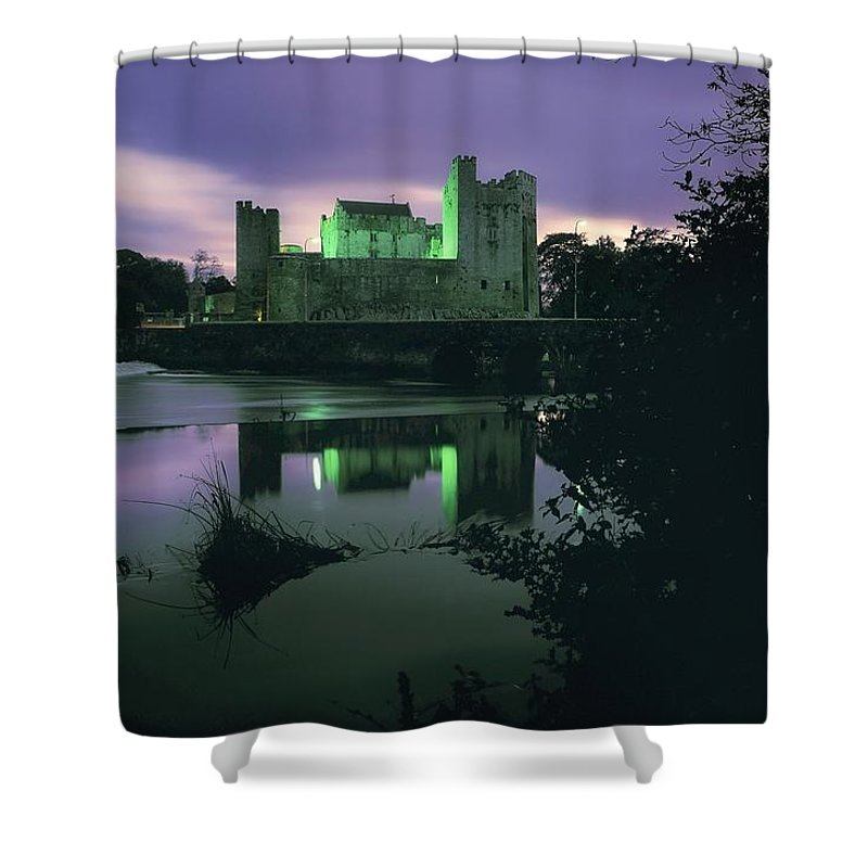 Archaeology Shower Curtain featuring the photograph Ross Castle, Killarney, Co Kerry by The Irish Image Collection