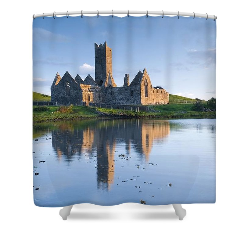 Outdoors Shower Curtain featuring the photograph Rosserk Friary, Co Mayo, Ireland 15th by Gareth McCormack