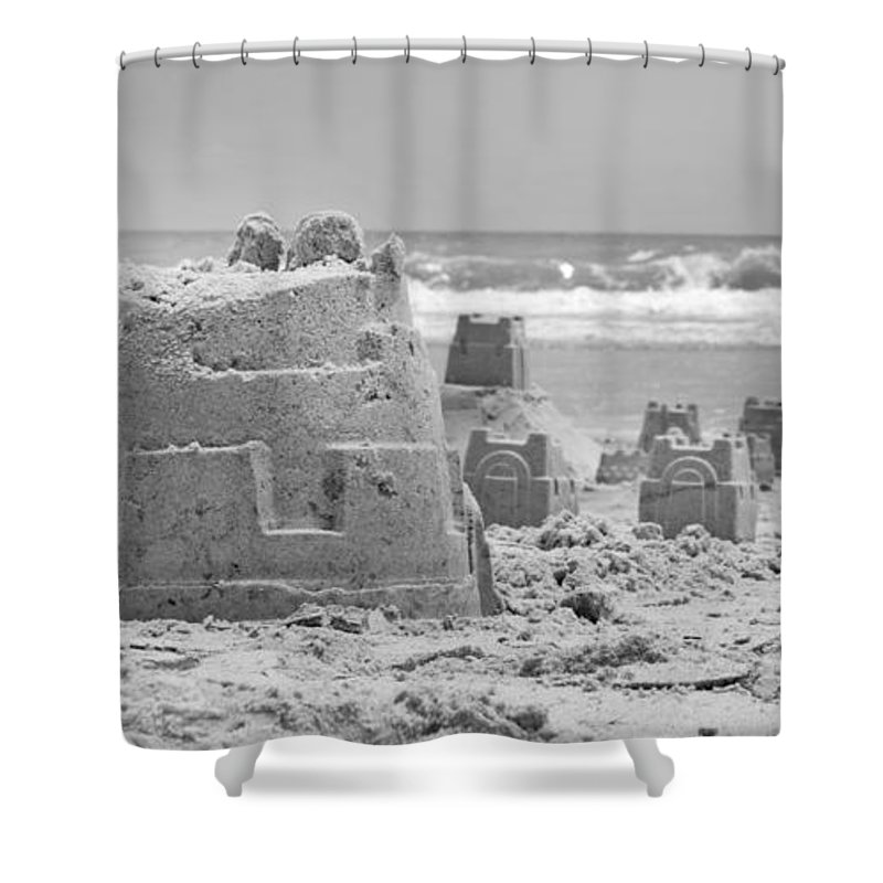Sandcastle Shower Curtain featuring the photograph Sandcastle by Betsy Knapp