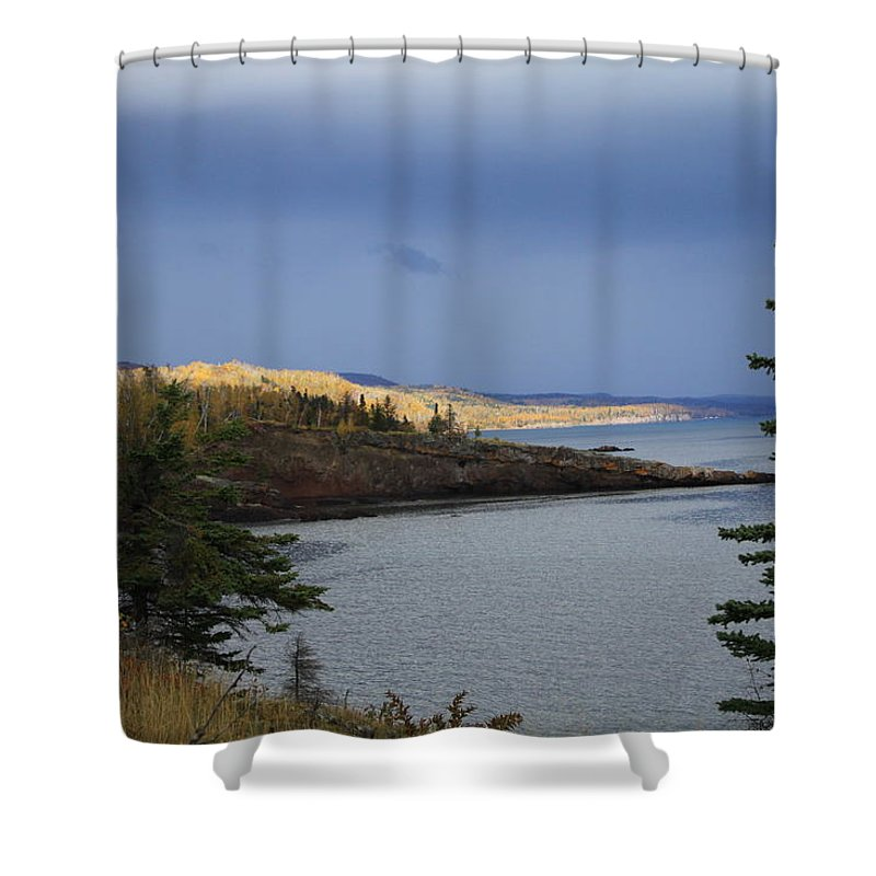 Photography Shower Curtain featuring the photograph Shovel Point by Joi Electa