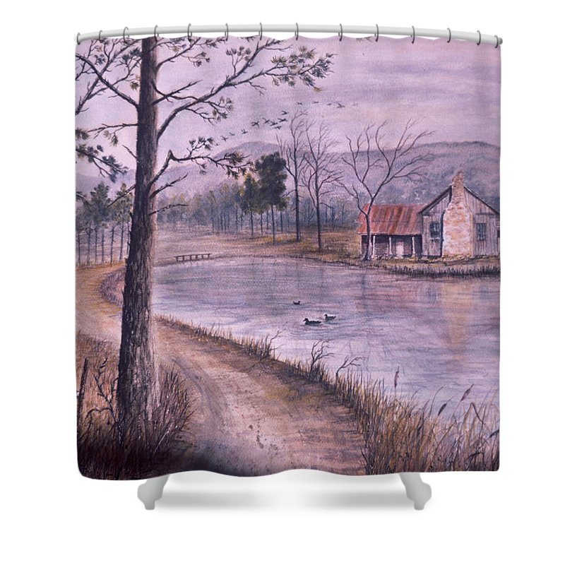 Morning Shower Curtain featuring the painting South Carolina Morning by Ben Kiger